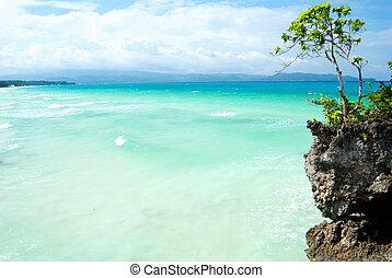 White sandy beach in Boracay