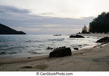 beach and stone in island