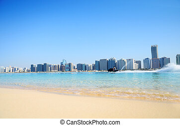 Beach and water sport in Abu Dhabi - Beach, water sport, and...