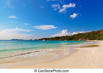 Beach Anse Lazio - Seychelles - Beach Anse Lazio at island ...