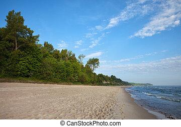 Beach at Baltic Sea in Poland