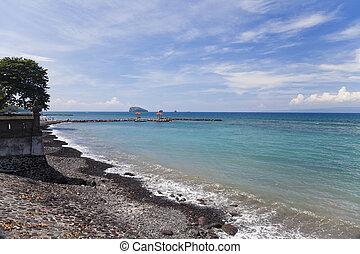 Beach at Candidasa, Bali, Indonesia - Image of a beautiful...