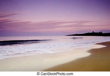 Beach at Dunstanburgh - Dunstanburgh a unique take on a...