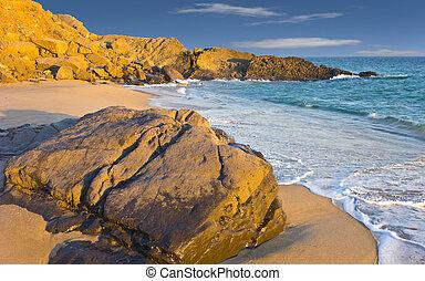 Beach at Dusk, Oxnard, CA - Colorful Evening at Ocean Beach...
