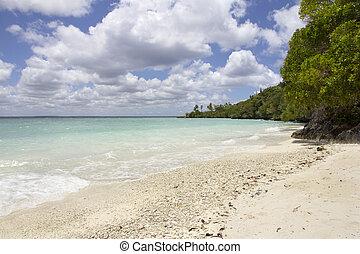Beach at Easo, Lifou, Loyalty Islands, New Caledonia