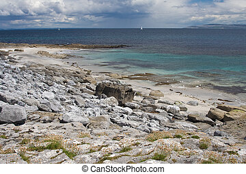 Beach at Inisheer Island in Ireland.