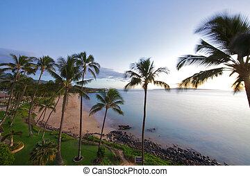 Beach at Kamaole Beach park II in Kihei Maui