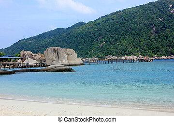Beach at Nangyuan island, Thailand