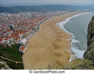 Beach at Nazare, Portugal