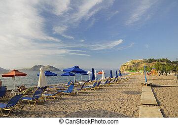 Beach at Petra, Lesvos, Greece - The beach at the resort of...