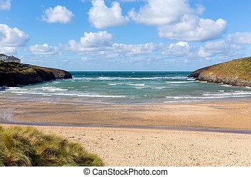 Beach at Porthcothan Bay Cornwall