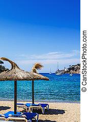 Beach at Puerto de Soller in Mallorca