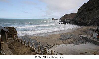 Beach at St Agnes Cornwall UK - St Agnes north Cornwall ...