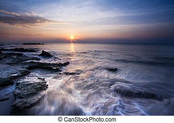 beach at sunset. Nature background