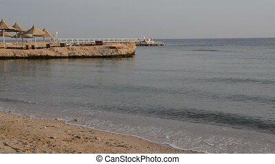 Beach at the luxury hotel, Hurghada