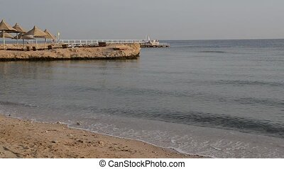 Beach at the luxury hotel, Hurghada