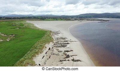 Beach at the Sheskinmore Nature Reserve between Ardara and Portnoo in Donegal - Ireland.