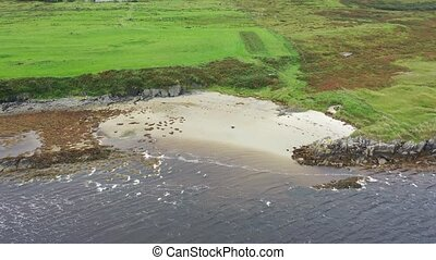 Beach at the Sheskinmore Nature Reserve between Ardara and Portnoo in Donegal - Ireland