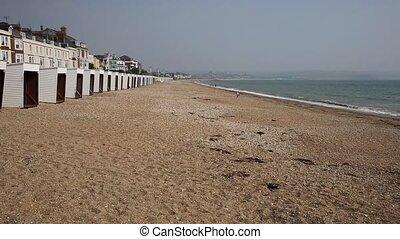 Beach at Weymouth Dorset UK - Weymouth beach Dorset UK in...