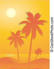Beach background - Tropical beach background