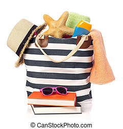 Beach bag and leisure items