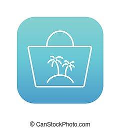 Beach bag line icon.