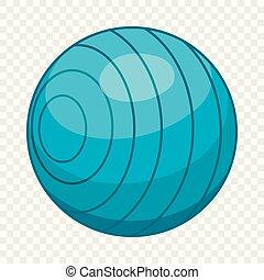 Beach ball icon, cartoon style