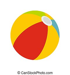 Beach ball icon, flat style