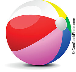 Beach Ball - illustration of a colorfull beach ball, eps 8 ...