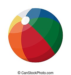 Beach ball in different colors.