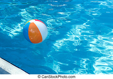 swimming pool beach ball background. Beach Ball In Swimming Pool Swimming Pool Beach Ball Background L