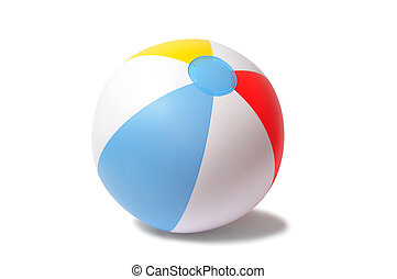 Beach Ball - Inflatable beach ball isolated on white