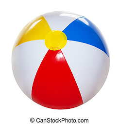 Beach Ball - Single beach ball isolated on white background