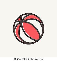 Beach ball thin line icon - Beach ball icon thin line for...