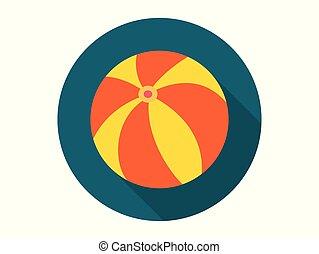 Beach ball vector icon sign symbol