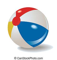Beach ball - vector inflatable beach ball