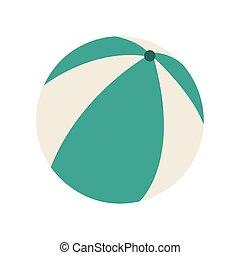 beach balloon air isolated icon