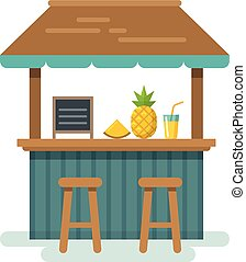 Beach bar flat illustration