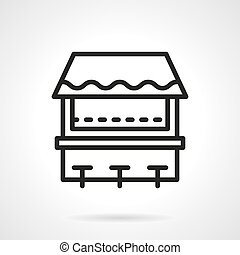 Beach bar simple line vector icon