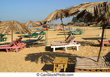 Beach Benaulim Goa India - the beach in Benaulim in the...