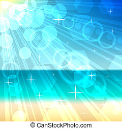 Beach bokeh vector background. EPS10 file.