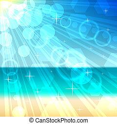 Beach bokeh vector background. EPS10 file.