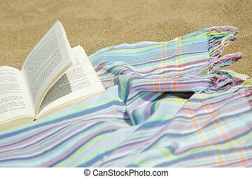 Beach Book - Novel on a towel on the beach