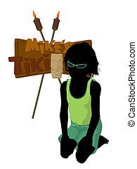 Beach Boy Silhouette Illustration