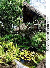 Beach Bungalow with tropical garden