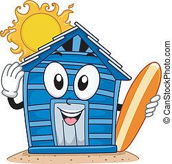 Beach Cabin Mascot