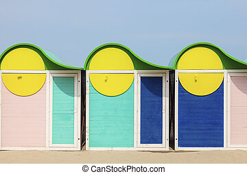 Beach cabins in Dunkirk