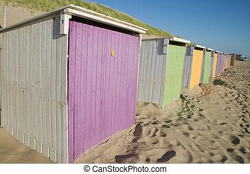 beach cabins