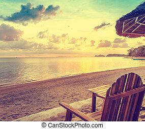 beach cafe on the sand  at the sea
