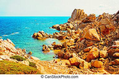 Beach Capo Testa Santa Teresa Gallura Sardinia Italy reflex...